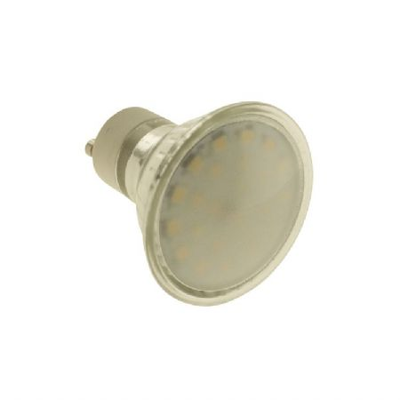 GU10 3.5W 24 SMD 3535 LED SUPER BRIGHT REPLACING 50W HALOGEN BULB IN GLASS SHELL WITH FROSTED COVER